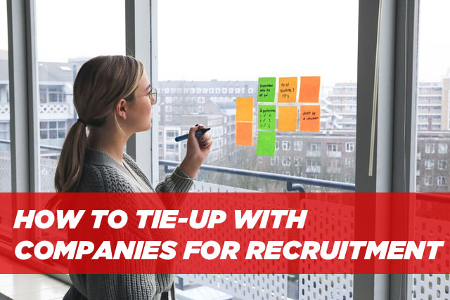 How to tie up with companies for Recruitment